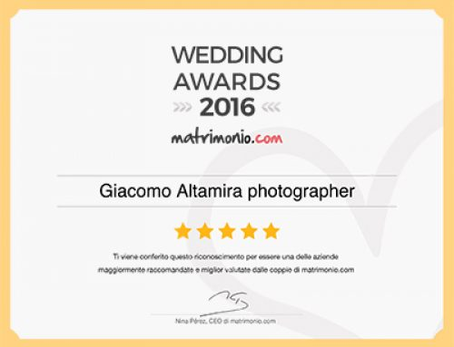 Giacomo Altamira Studio ottiene il premio Wedding Awards 2016 di matrimonio.com